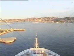Vue de la Webcam avant du Luminosa au port de Marseille