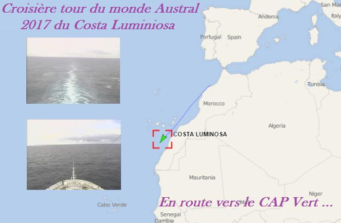Croisière tour du monde 2017 En route pour Mindelo au Cap Vert