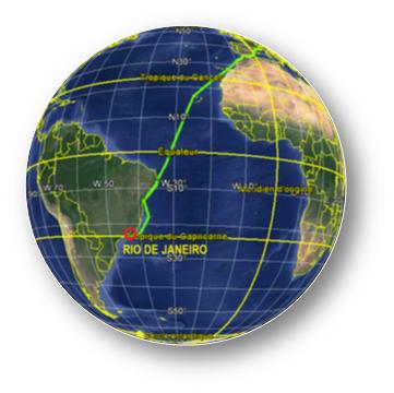 Croisière tour du monde Austral 2017 Parcours du Costa Luminosa vers Rio de Janeiro au Brésil