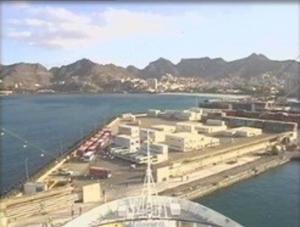 Croisière tour du monde Austral 2017 Le Costa Luminosa au Port de Mindelo Cap Vert