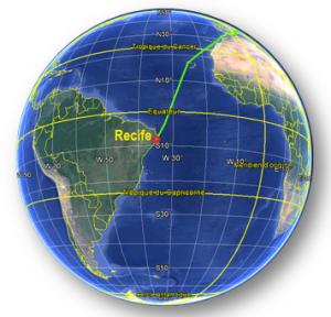 Croisière tour du monde Austral 2017 Le Costa Luminosa en Escale à Récife Brésil