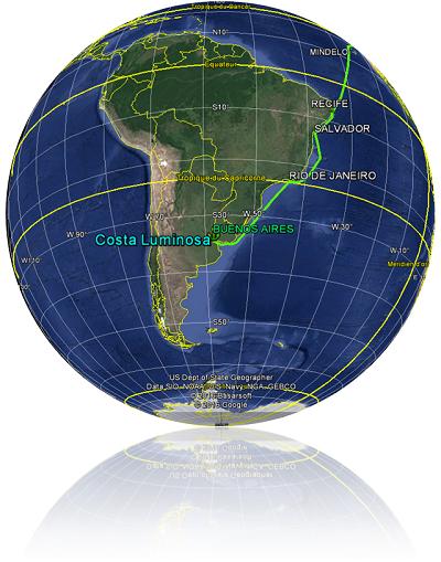 Croisière tour du monde Austral 2017 Le Costa Luminosa fait Escale à Buenos Aires Argentine