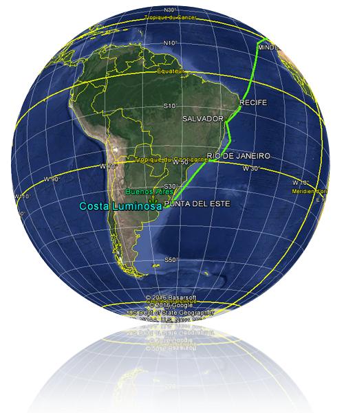 Croisière tour du monde Austral 2017 Le Costa Luminosa fait Escale à Punta Del Este Uruguay