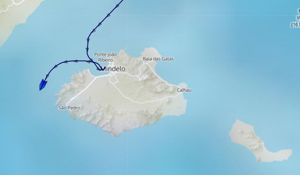 Croisière tour du monde Austral 2017 Le Costa Luminosa repart de Mindelo Cap Vert