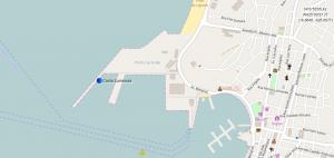 Position du bateau au quai de Mindelo au Cap Vert