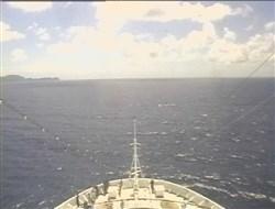 Croisière tour du monde Austral 2017 Webcam Avant du Bateau Fernando de Noronha