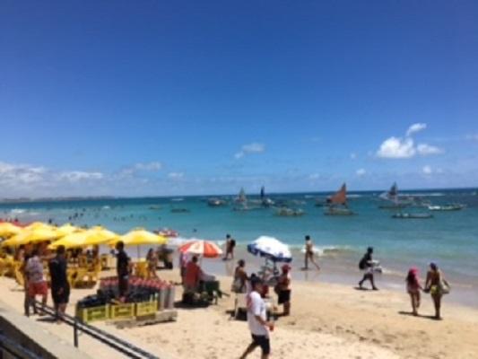 Croisière tour du monde Australe 2017 Escale à Recife plage à Porto de Galinhas