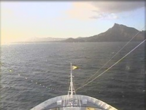 Le Costa Luminosa en vue du Cap Vert