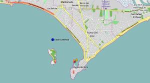 Position du Costa Luminosa à l'ancre au large du port de Punta del Este Uruguay