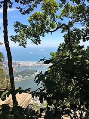 Vue sur la Baie de Rio de Janeiro en route vers le Corcovado