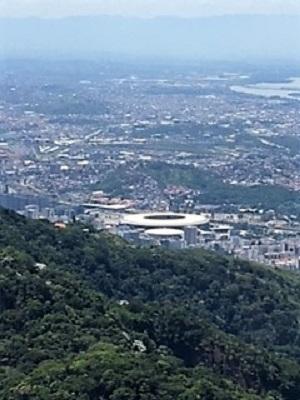 Vue sur le Stade Maracana à Rio de Janeiro