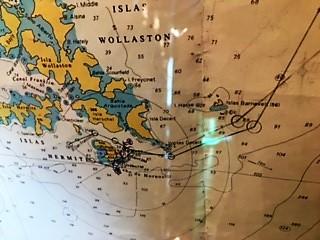 Croisière tour du monde Austral 2017 Route affichée dans le bateau à destination des passagers