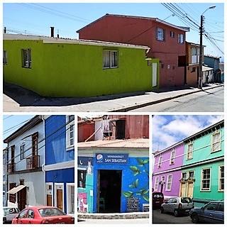 Croisière tour du monde Australe 2017 Costa Croisière. Claudine et Jean Luc 2 jours d'escale à Valparaiso et visite de Santiago au Chili