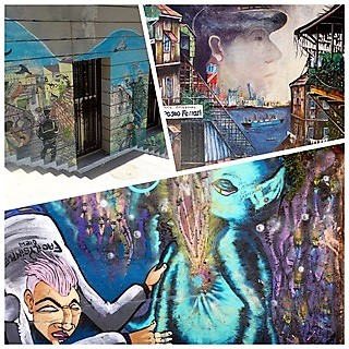 Claudine et Jean Luc, escale à Valparaiso au Chili: Spécial Street