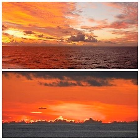 Croisière tour du monde austral 2017 Costa Croisière Jean Luc et Claudine Paysages en navigation avant d'arriver à Tahiti