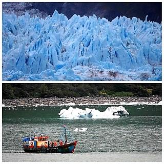 Des nouvelles des Passagers de la croisière tour du monde Austral 2017, TDM 32-33 le glacier Amalia par Claudine et Jean Luc.