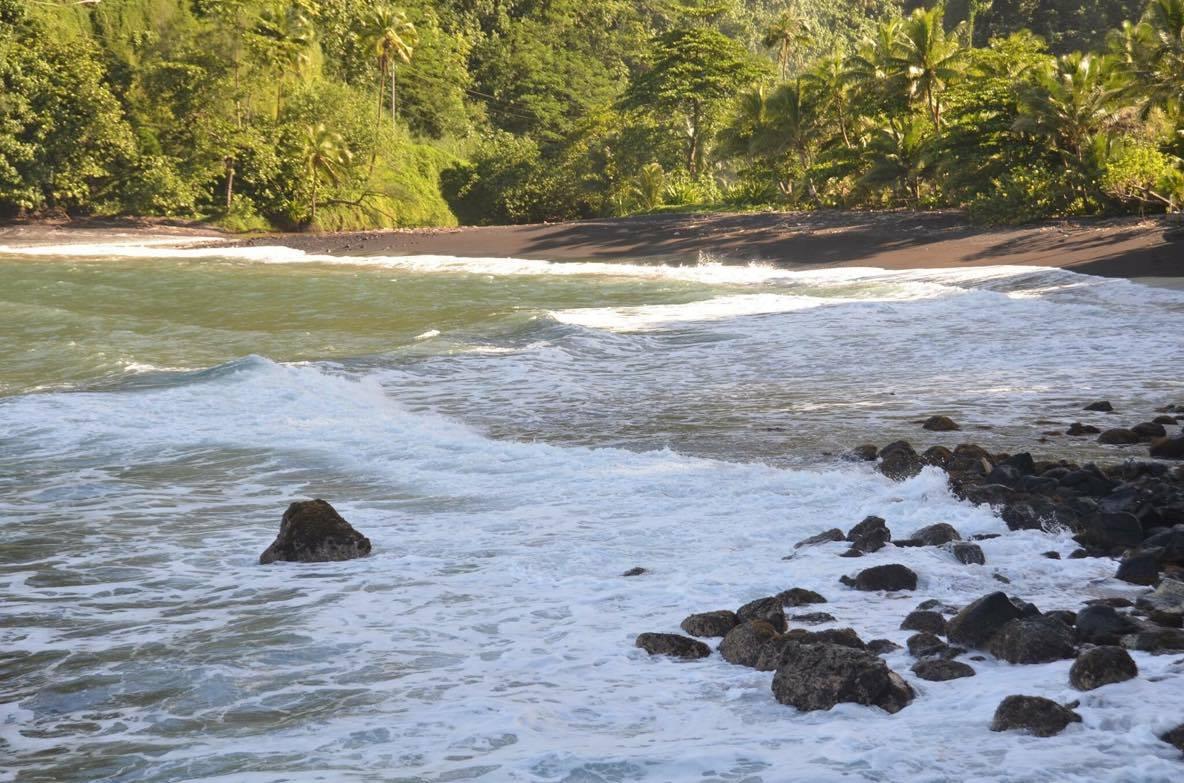 Croisière tour du monde Australe 2017 Anna Escale à Papeete Tahiti La plage