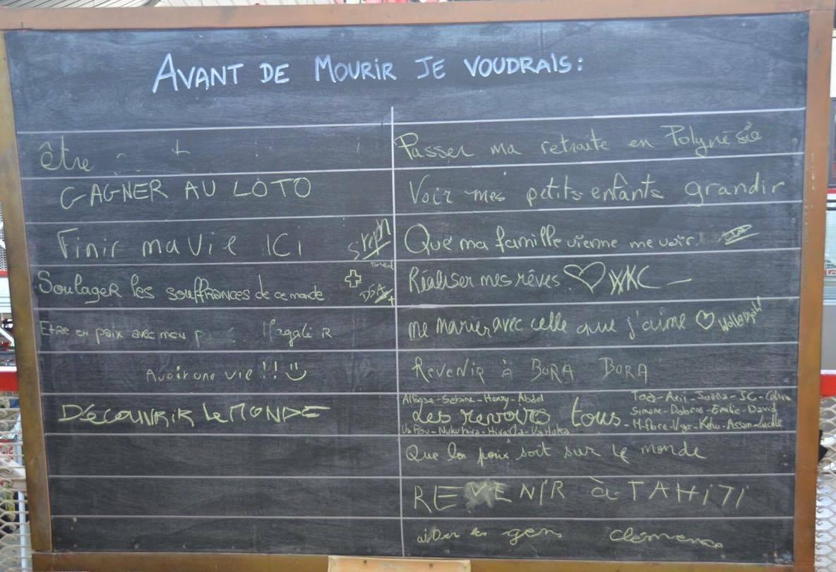 Croisière tour du monde Australe 2017 Anna Escale à Papeete Tahiti Le tableau des souhaits