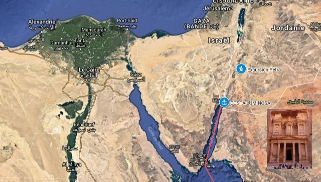 Costa Luminosa en Escale à AQABA en Jordanie pour une Excursion Petra