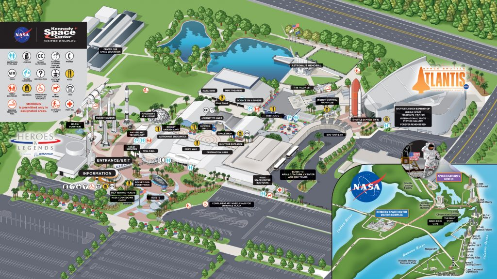 La carte du Kenedy Space Center