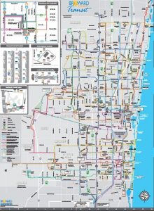 Carte des bus du conté de Breward Port Everglades