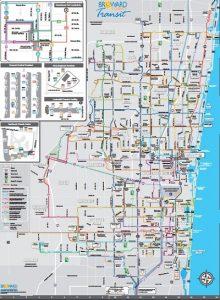 Carte des bus du conté de Breward Port Everglades