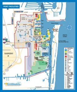 Carte du Port Everglades