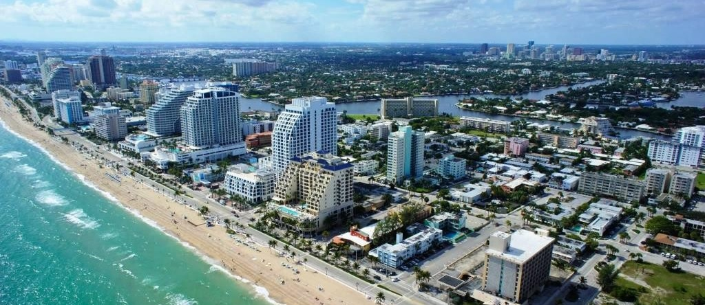 Vue aérienne de Fort Lauderdale
