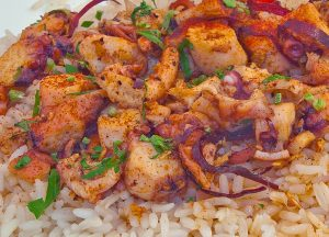 Arroz con pulpo Costaricain