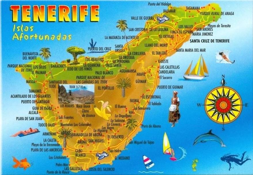 Carte Tenerife.Carte Santa Cruz De Tenerife Aux Iles Canaries Croisiere