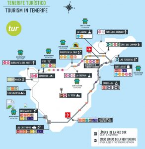 Carte Tenerife by bus