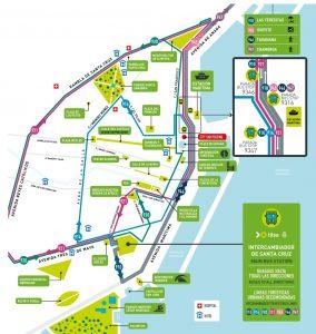 Carte Tenerife by bus près du terminal de croisière