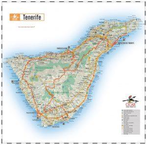 Carte routière de Tenerife