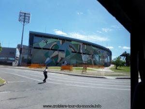 Escale à Montevideo Uruguay Le Stade de football