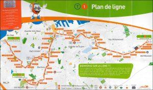 Plan lignes de tramway à Casablanca