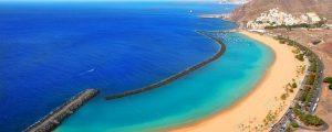 la plage de Teresitas Santa cruz de tenerife