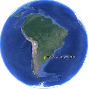 Position de Buenos Aires en Argentine dans le monde