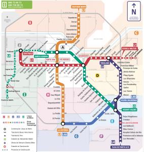 Carte du métro de Santiago du chili