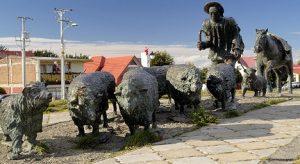 Monumento al Ovejero Monument du berger Punta Arenas au Chili