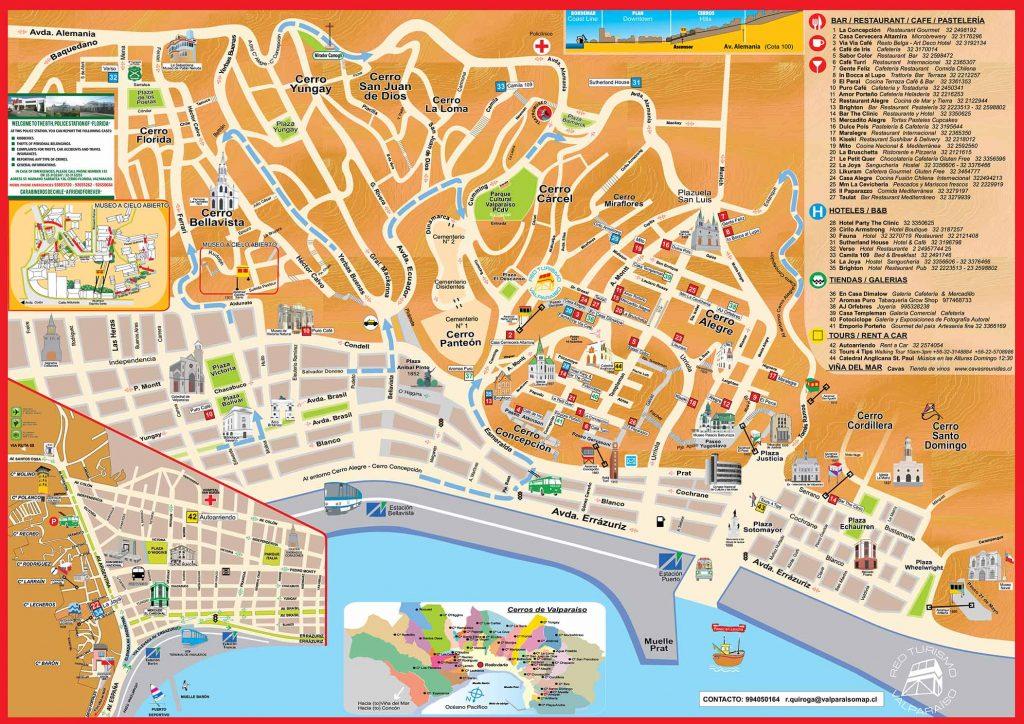 Carte de Valparaiso