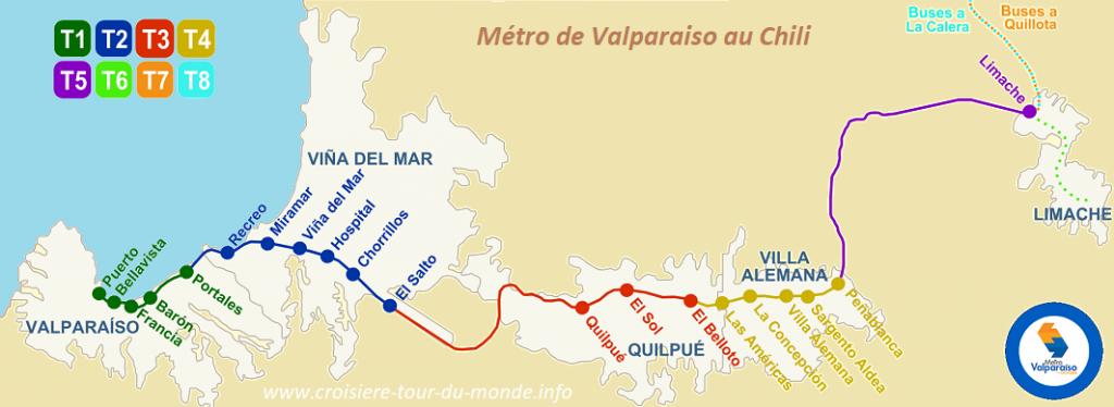 Carte du Métro de Valparaiso