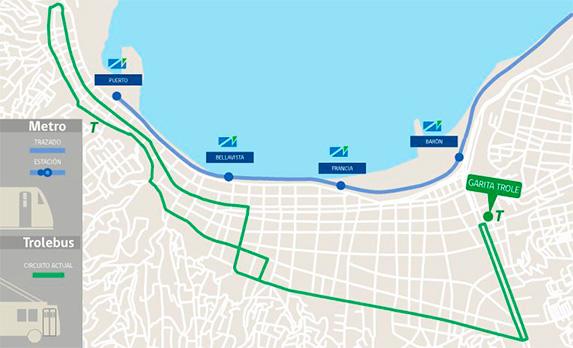 Carte Métro et Trolley de Valparaiso