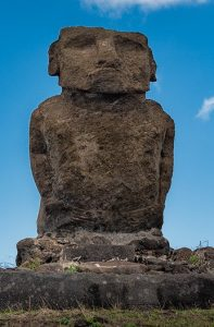 Ahu Ature Huki sur l'Île de Pâques