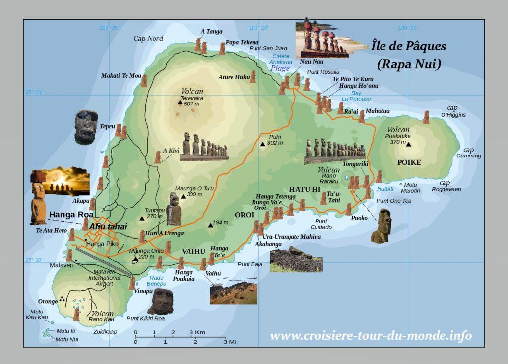 Croisière tour du monde visite de Île de Pâques