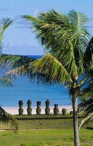 Site de Ahu Nau Nau sur l'Île de Pâques