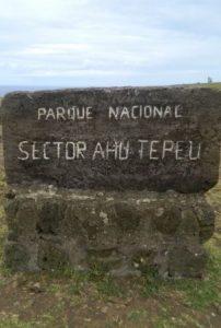 Site de Ahu TE PEU sur l'Île de Pâques