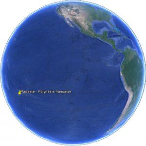 Localisation de l'escale à Papeete – Île de Tahiti en Polynésie française
