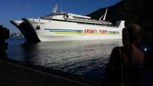 Le ferry entre Papeete et Moorea