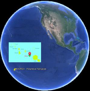 Moorea en Polynésie Française Situation dans le monde