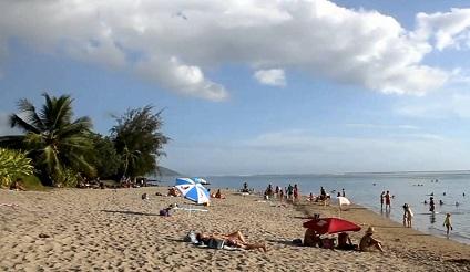 Plage de Vaiava à Tahiti